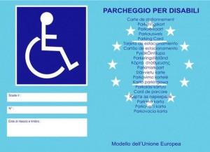 Contrassegno disabili Unione Europea
