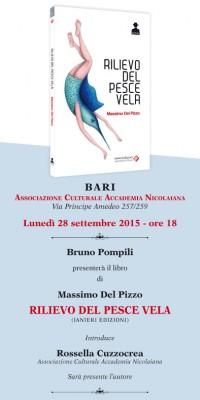 Rilievo del pesce vela - presentazione a Bari