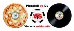 logo partita calcio solidarietà pizzaioli - dj lecce
