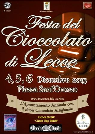 manifesto festa del cioccolato lecce