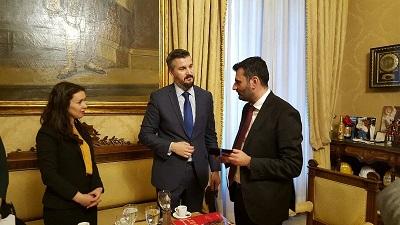 sindaco decaro con rappresentanti di albania e montenegro