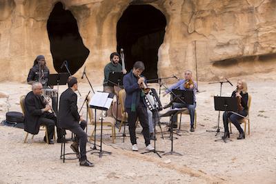 Luca Aquino e il quintetto della Jordanian National Orchestra