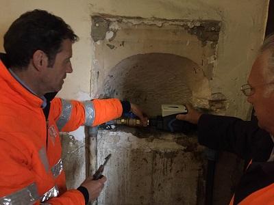 sostituzione contatore idrico aqp a palazzo di città