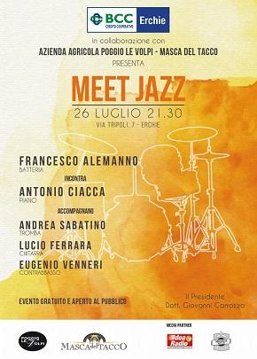 locandina meet jazz @erchie