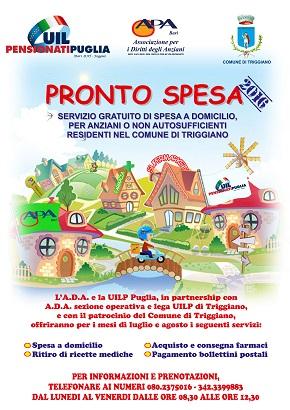Manifesto Spesa a domicilio - Triggiano 2016.cdr
