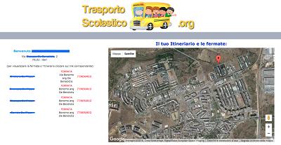 screenshot trasporto scolastico