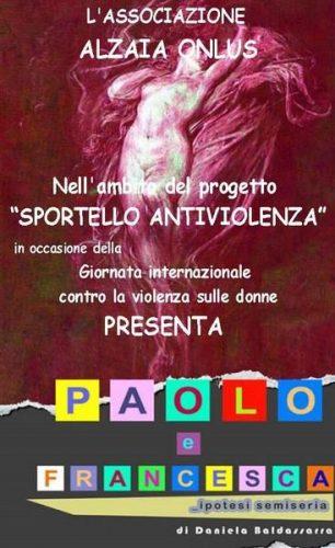 """Locandina """"Paolo e Francesca... ipotesi semiseria"""""""