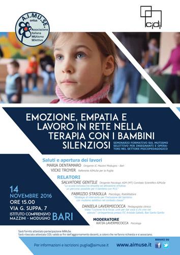 Seminario Empatia con bambini silenziosi a Bari