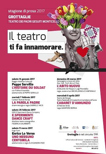 Grottaglie, Stagione di prosa 2017 al Teatro Monticello