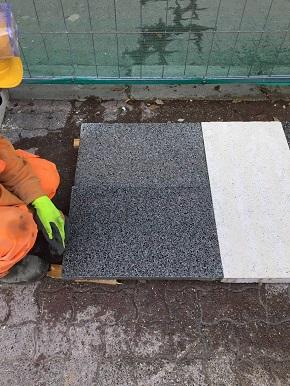 campioni pavimentazione nuova via sparano