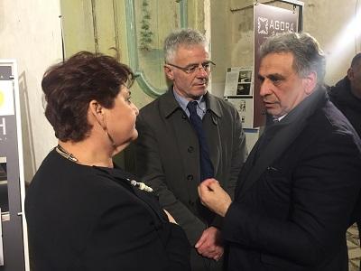 il viceministro bellanova con il presidente dell'ordine degli architetti di lecce rocco de matteis