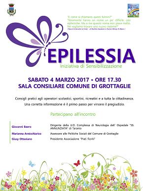 locandina incontro sensibilizzazione epilessia grottaglie
