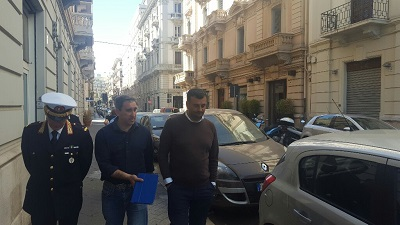 pedonalizzazione largo giordano bruno e via bozzi, sopralluogo sindaco