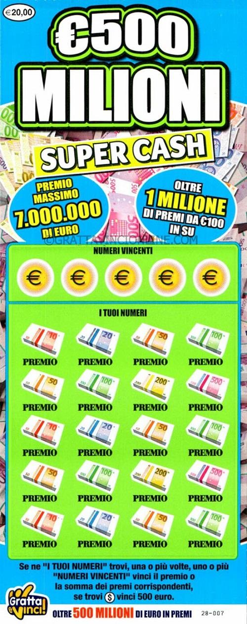 €500 milioni super cash