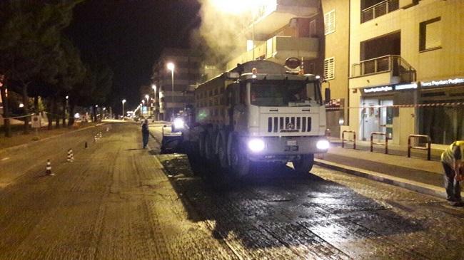 lavori asfalto rotatoria tra via caladarola e viale magna grecia