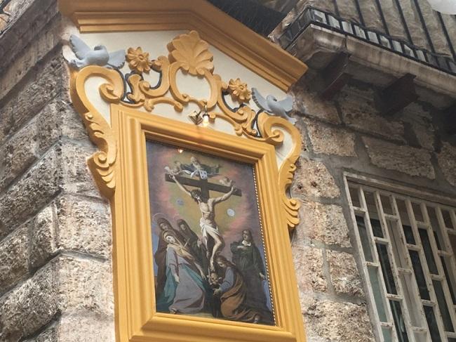 presentazione edicola votiva restaurata grazie al rotary in strada zeuli