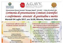 locandina cerimonia di premiazione comitati scientifici