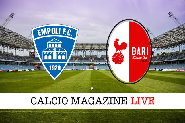 Empoli-Bari live: diretta minuto per minuto della partita
