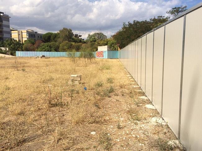 ex caserma rossani, lavori nuovo parco via gargasole