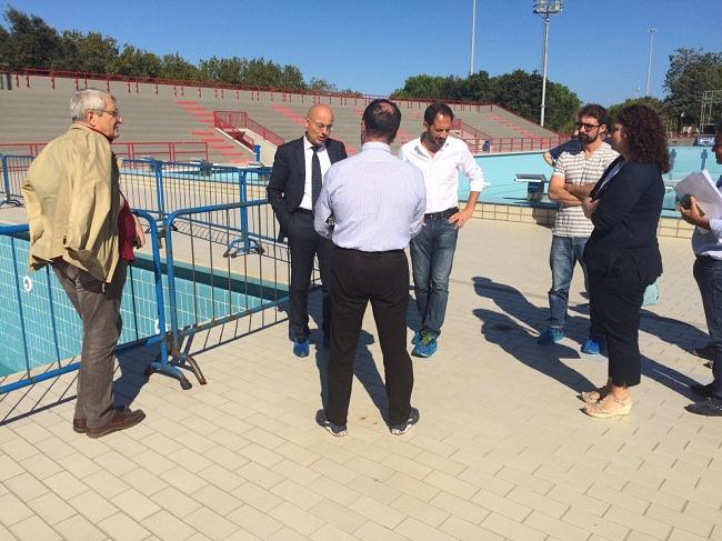 inaugurato il cantiere per la manutenzione straordinaria dello stadio del nuoto