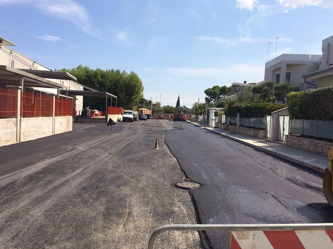 lavori manto stradale via fransvea a carbonara