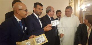 presentazione francobollo dedicato alla basilica di san nicola