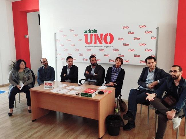 conferenza stampa articolo uno - mdp