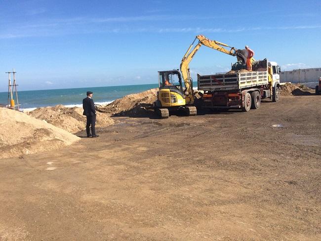 rimozione detriti foce lama giotta torre a mare