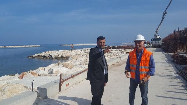 sopralluogo del sindaco sul cantiere del waterfront a san girolamo