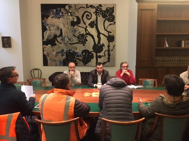 incontro amministrazione - sindacati