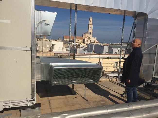 sopralluogo assessore Galasso impianto efficientamento energetico palazzo dell'economia