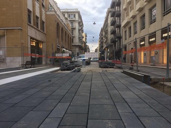 via Sparano - riqualificata metà carreggiata all'intersezione con via abate gimma