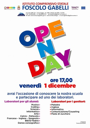 locandina open day foscolo