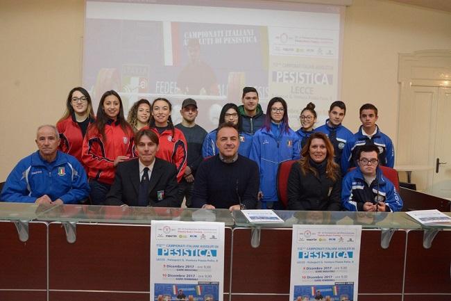 presentazione campionati italiani pesistica