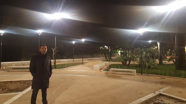 test nuovo impianto d'illuminazione giardino isabella d'aragona