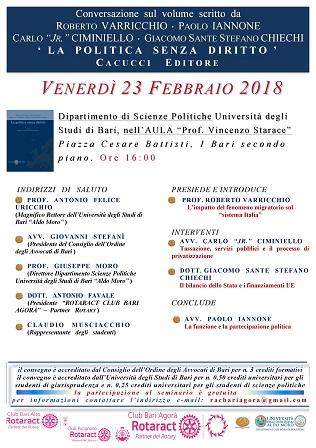 locandina presentazione libro università bari