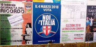 manifesti vandalizzati melpignano