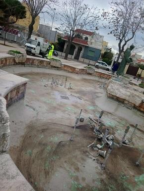 ripulite 5 fontane storiche della città di bari