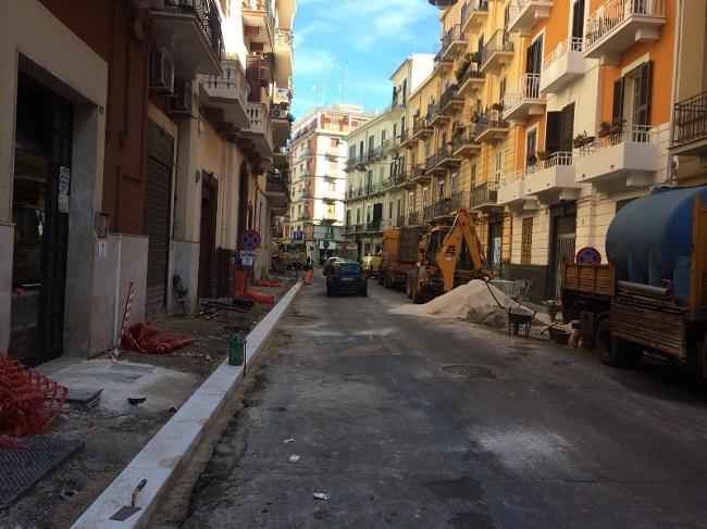 riqualificazione marciapiedi via durazzo