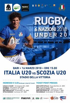 locandina match italia - scozia rugby
