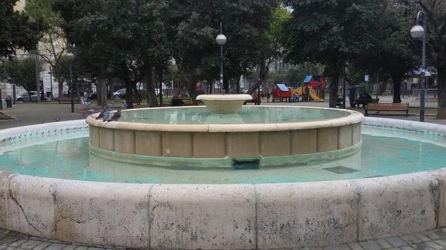 fontana piazza garibaldi - nuovi interventi pulizia