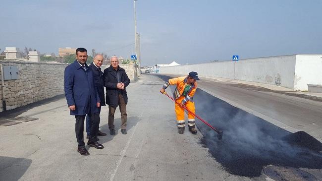 lavori di asfaltatura strada della marina a san giorgio