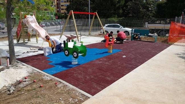 nuova area giochi nel giardino triggiani