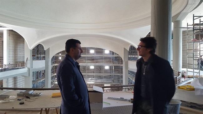 teatro margherita - sopralluogo sindaco nel cantiere