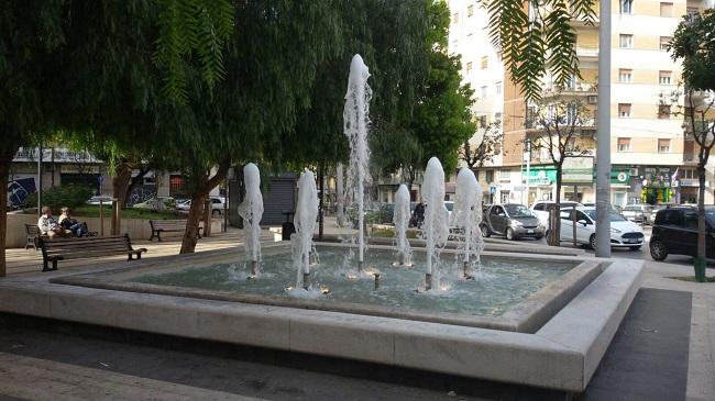 torna in funzione la fontana di viale della repubblica