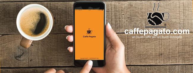 copertina app che offre il caffè