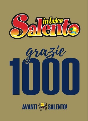 copertina edizione numero mille 'salento in tasca'