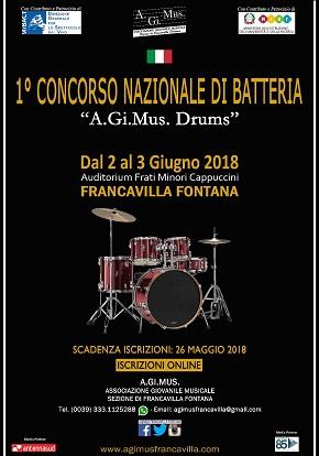 locandina concorso batteria
