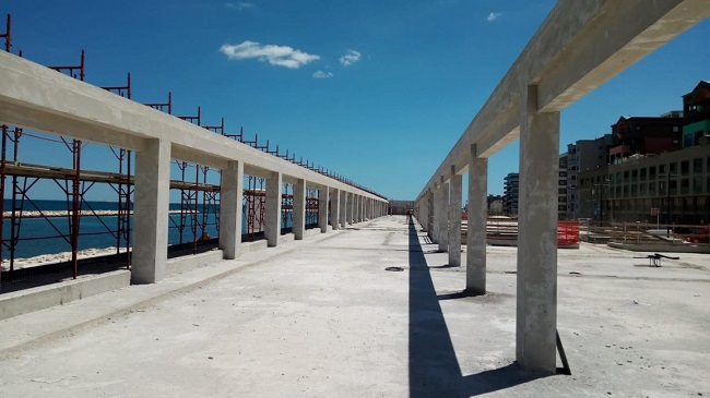 nuovo sopralluogo al waterfront di san girolamo per la scelta dei materiali