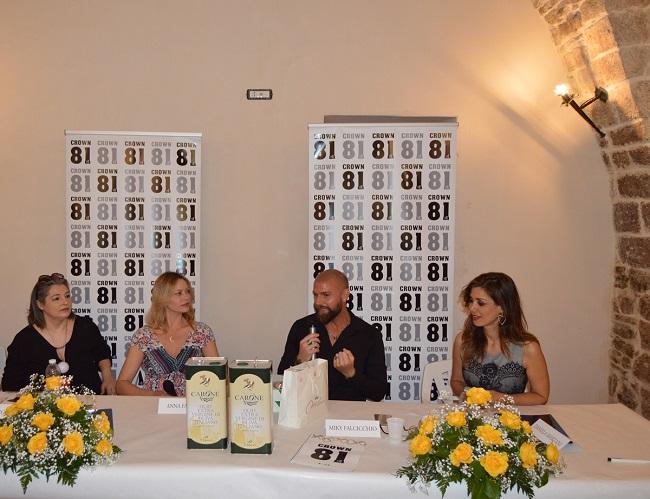 conferenza stampa con anna falchi daniela martani e miky falcicchio